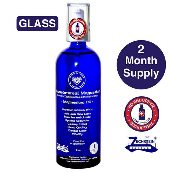 Transdermal Magnesium Oil - 2 month Supply in GLASS