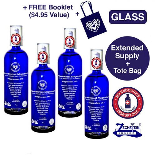 Transdermal Magnesium Extended Supply in GLASS