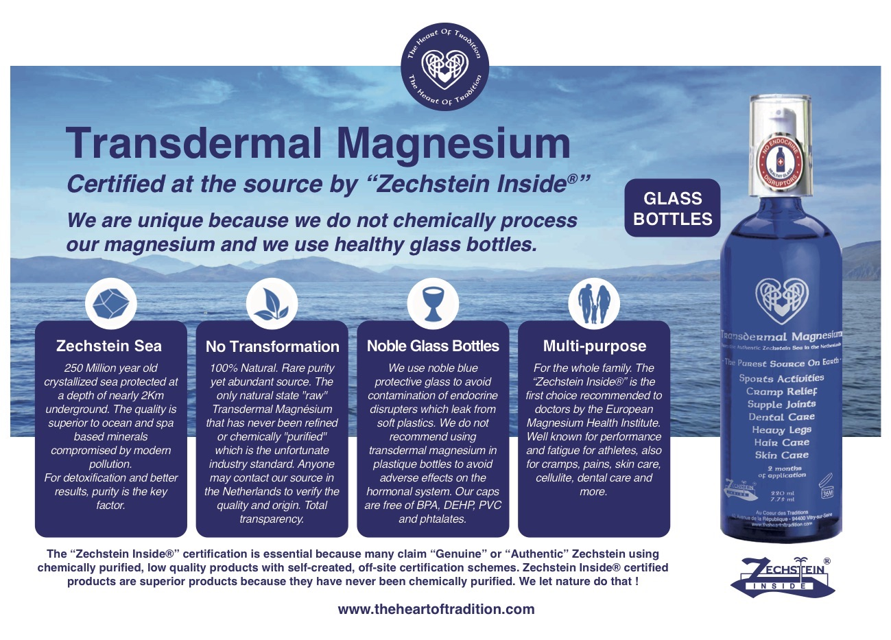 Transdermal Magnesium, Magnesium Oil - The Heart Of Tradition USA